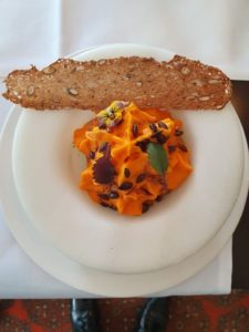 A photo of my restaurant photo which contains Pumpkin - Squash, Goats Cheese & Homemade Dandelion Honey