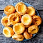 a plate of yorkshire puddings