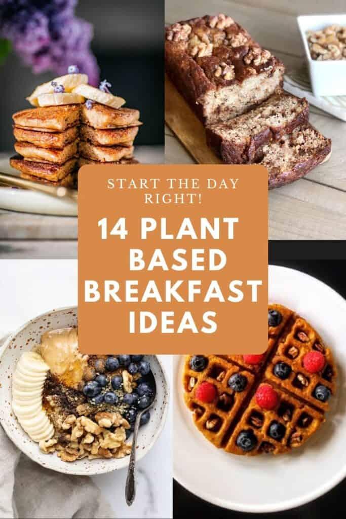 Plant based breakfast ideas pin