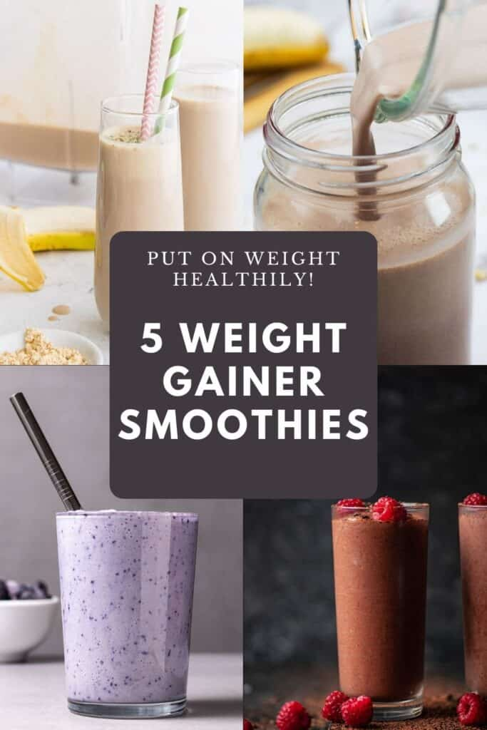 4 different smoothies for putting on weight