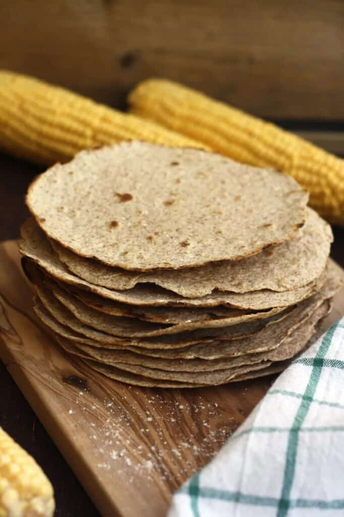 A stack of wheat tortillas