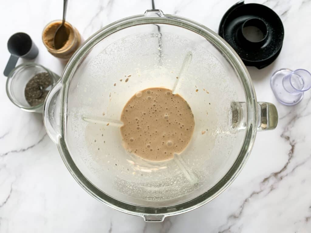 Vegan keto smoothie blended together